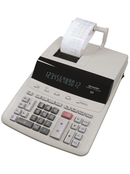 Calculator cu banda, 12 digits, 345 x 250 x 87 mm, SHARP CS-2635RHGYSE - gri [0]