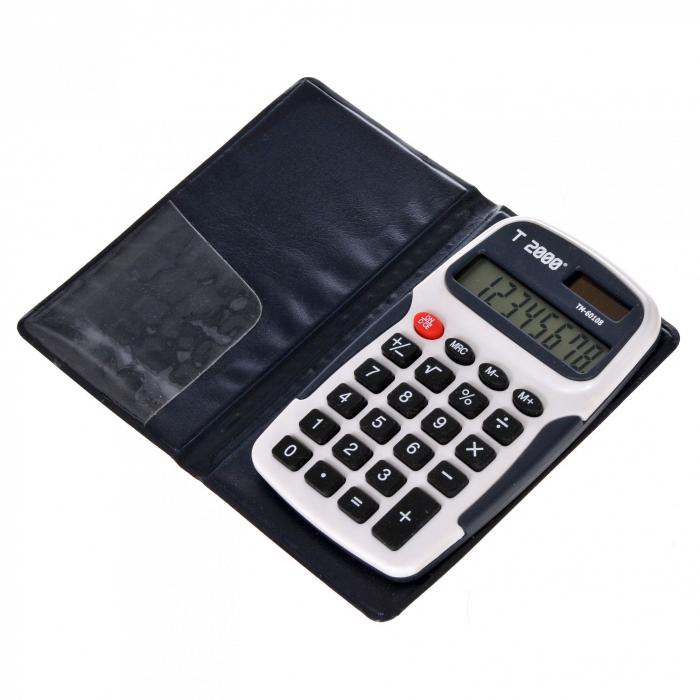 Calculator de buzunar  T2000, model TM60108, 8 digit's, cu etui [1]