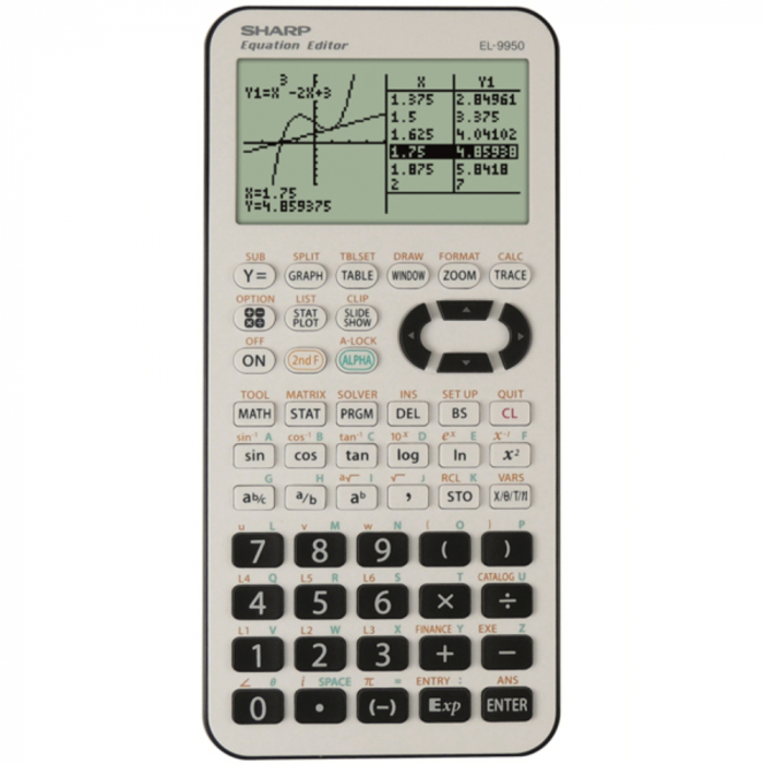 Calculator grafic, 827 functiuni, SHARP EL-9950L - alb/negru 0