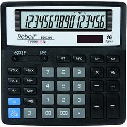 Calculator pentru birou, 16 digits, 156 x 156 x 30 mm, Rebell BDC 316 BX - negru 0