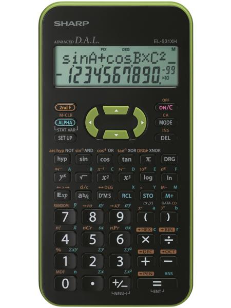 Calculator stiintific, 10 digits, 273 functiuni, 161x80x15mm, dual power, SHARP EL-531THBGR-negru/ve [0]