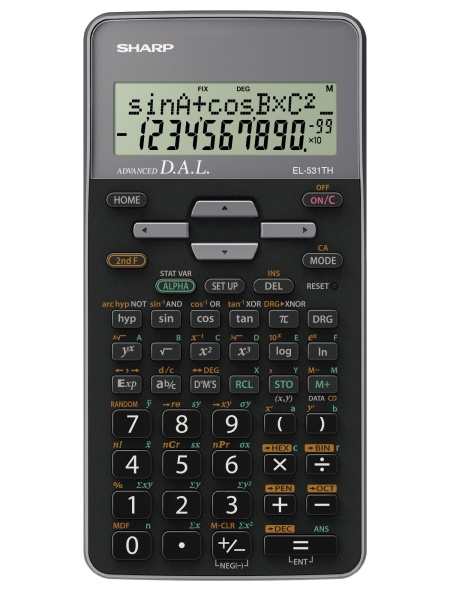 Calculator stiintific, 10 digits, 273 functiuni, 161x80x15mm, dual power, SHARP EL-531THGR-negru/ver 0