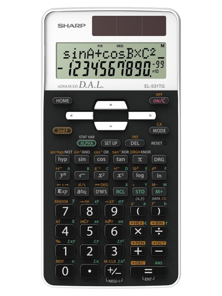 Calculator stiintific, 12 digits, 273 functiuni, 161x80x15 mm, SHARP EL-531THBWH - negru/alb 0