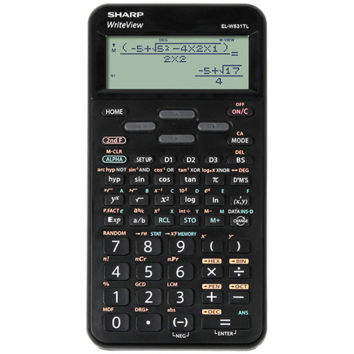 Calculator stiintific, 16 digits, 422 functiuni, 157x78x15 mm, SHARP EL-W531TL - negru 0