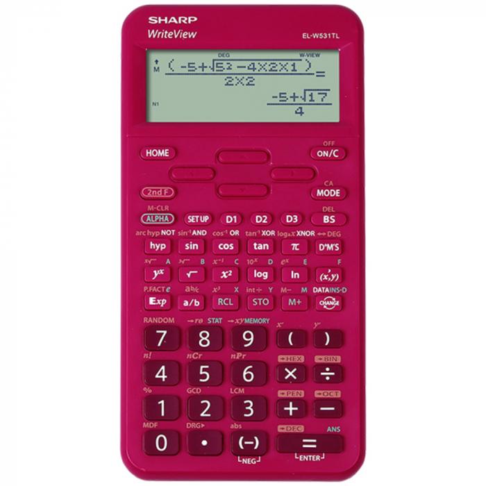 Calculator stiintific, 16 digits, 422 functiuni, 157x78x15 mm, SHARP EL-W531TL - rosu [0]