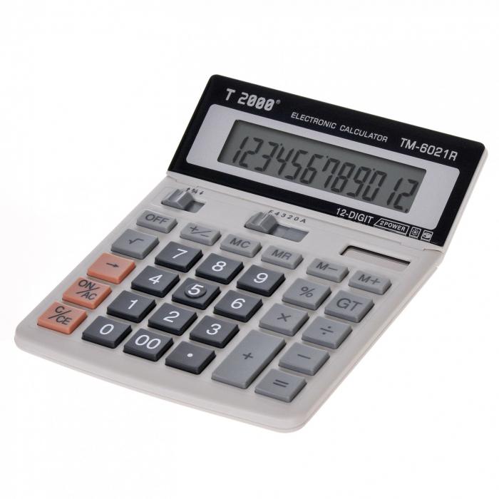 Calculator T2000, model TM 6021R, 12 digit's, cu ecran rabatabil 1