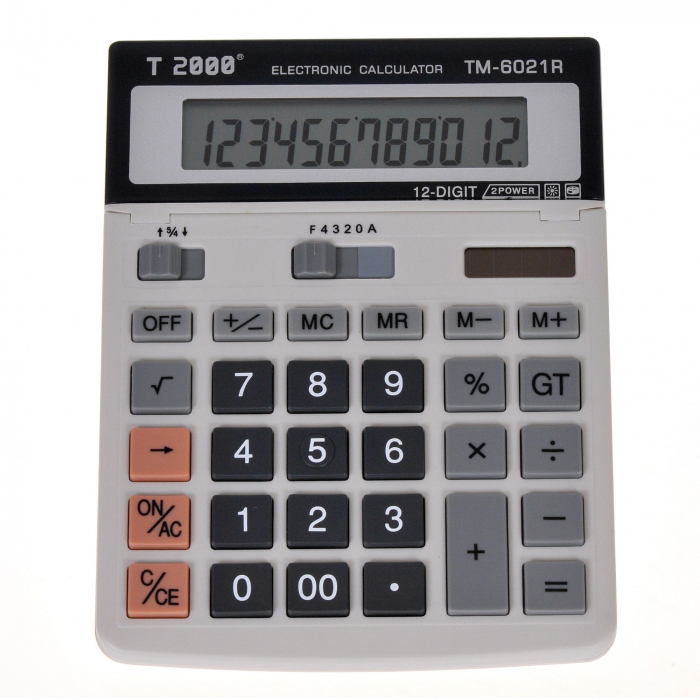 Calculator T2000, model TM 6021R, 12 digit's, cu ecran rabatabil 0