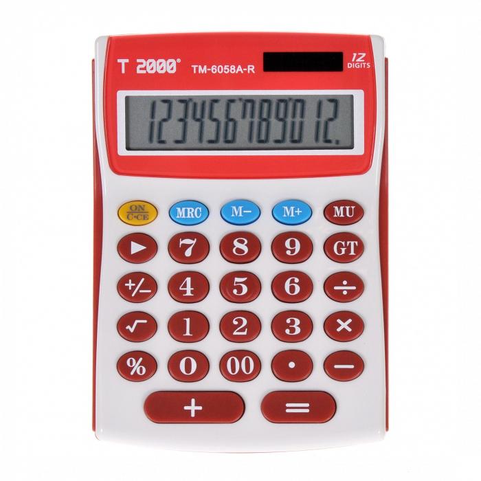 Calculator T2000, model TM6058, 12 digit's 0