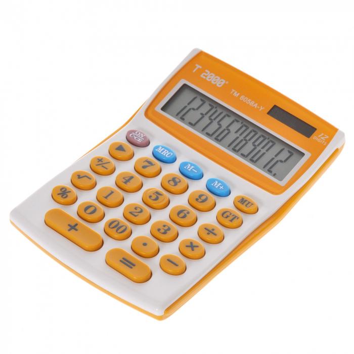 Calculator T2000, model TM6058, 12 digit's 1
