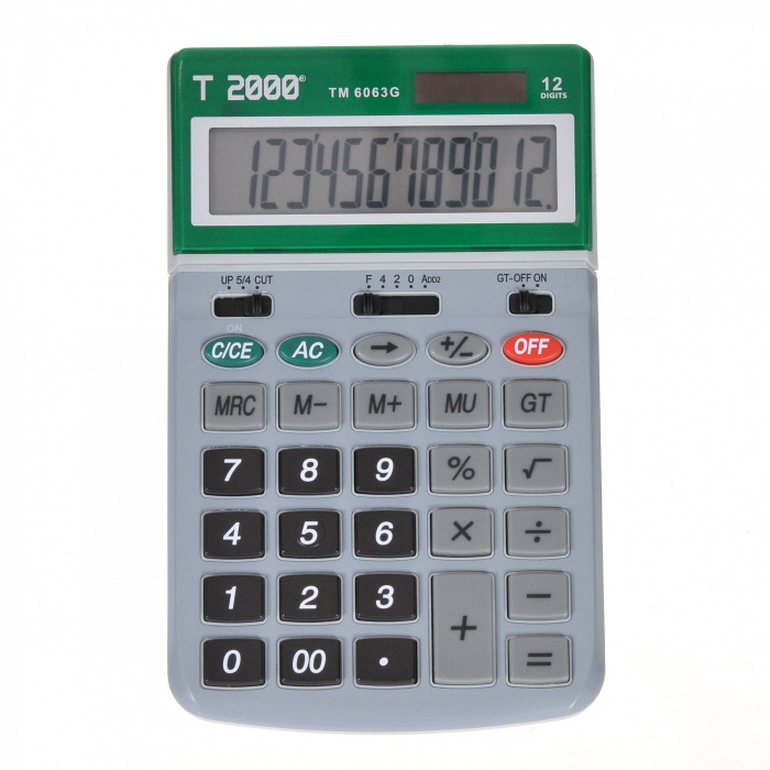 Calculator T2000, model TM6063, 12 digit's, cu ecran rabatabil 1