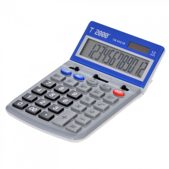 Calculator T2000, model TM6063, 12 digit's, cu ecran rabatabil 0