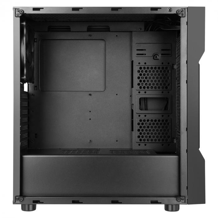 Carcasa ABKONCORE Cronos 610S Black, ATX Mid Tower,LED RGB Strip, neagra [3]