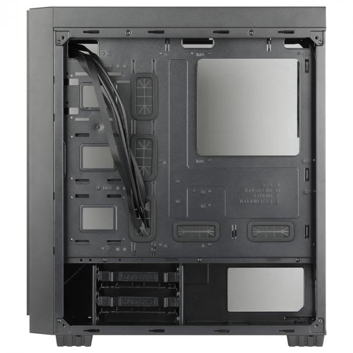 Carcasa ABKONCORE Cronos 710S Black, ATX Mid Tower, panou sticla securizata, LED RGB Strip, RGB fan, fara sursa [6]