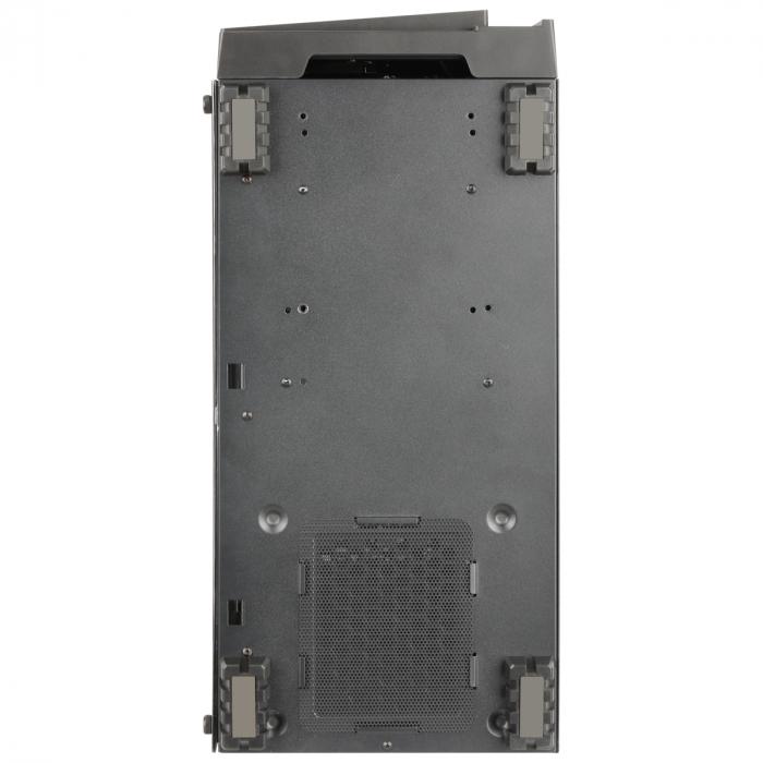 Carcasa ABKONCORE Cronos 710S Black, ATX Mid Tower, panou sticla securizata, LED RGB Strip, RGB fan, fara sursa [8]