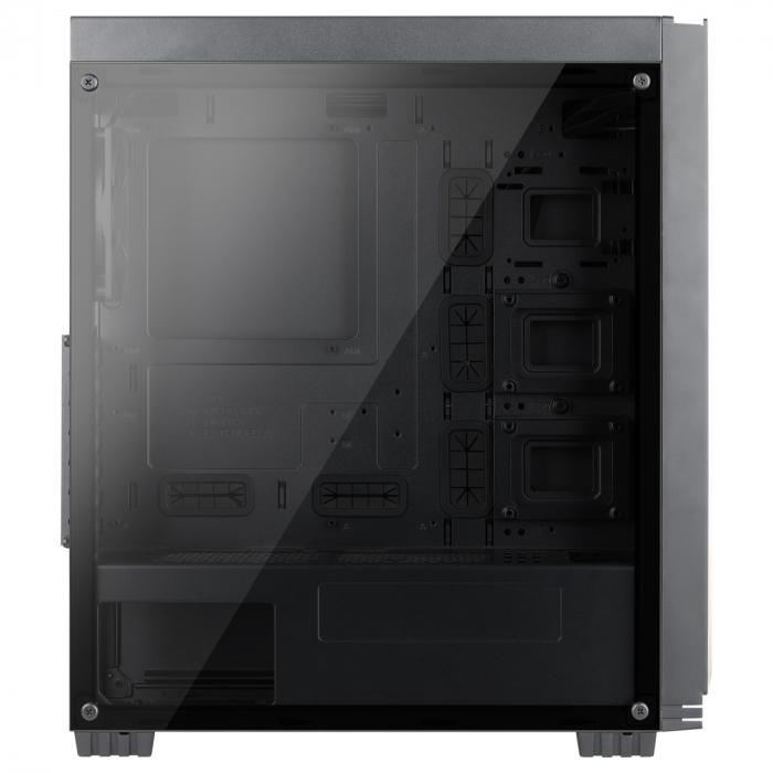 Carcasa ABKONCORE Cronos 710S Black, ATX Mid Tower, panou sticla securizata, LED RGB Strip, RGB fan, fara sursa [5]