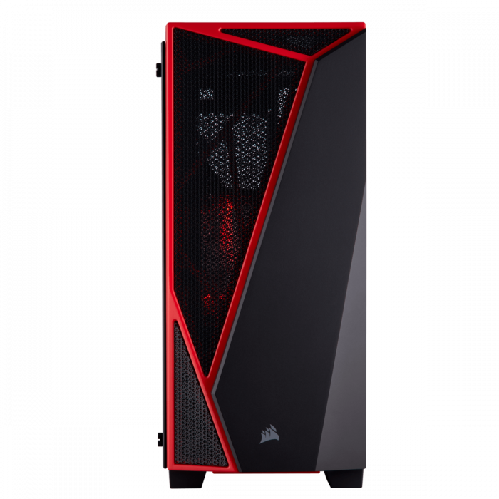 Carcasa Carbide Series SPEC-04 Tempered Glass Mid-Tower  — Black/Red 2