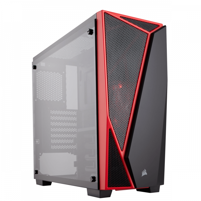 Carcasa Carbide Series SPEC-04 Tempered Glass Mid-Tower  — Black/Red 1