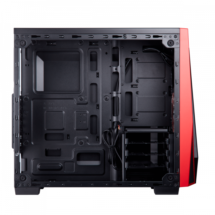 Carcasa Carbide Series SPEC-04 Tempered Glass Mid-Tower  — Black/Red 6