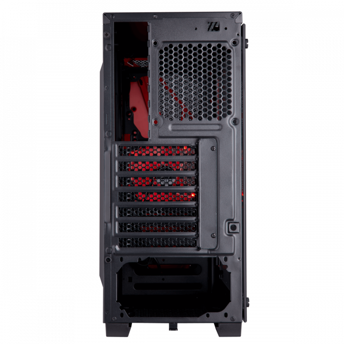 Carcasa Carbide Series SPEC-04 Tempered Glass Mid-Tower  — Black/Red 3
