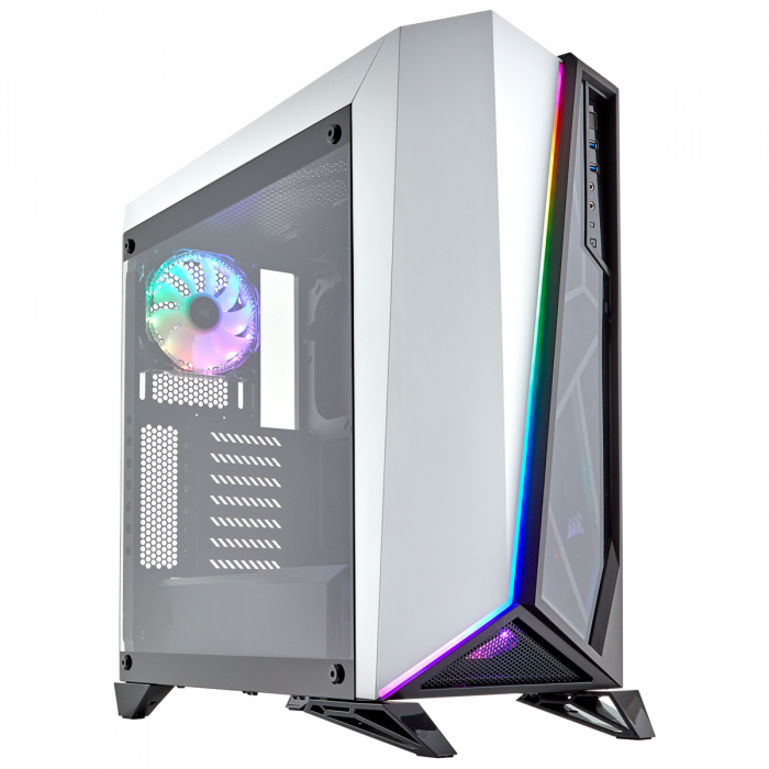 Carcasa Carbide Series OMEGA RGB Mid-Tower Tempered Glass Alba 1