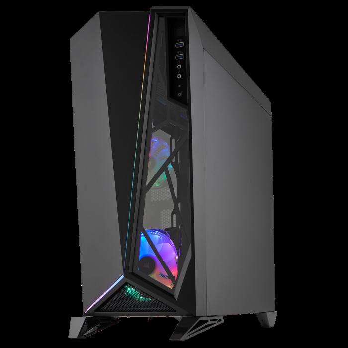 Carcasa Carbide Series OMEGA RGB Mid-Tower Tempered Glass Neagra [3]