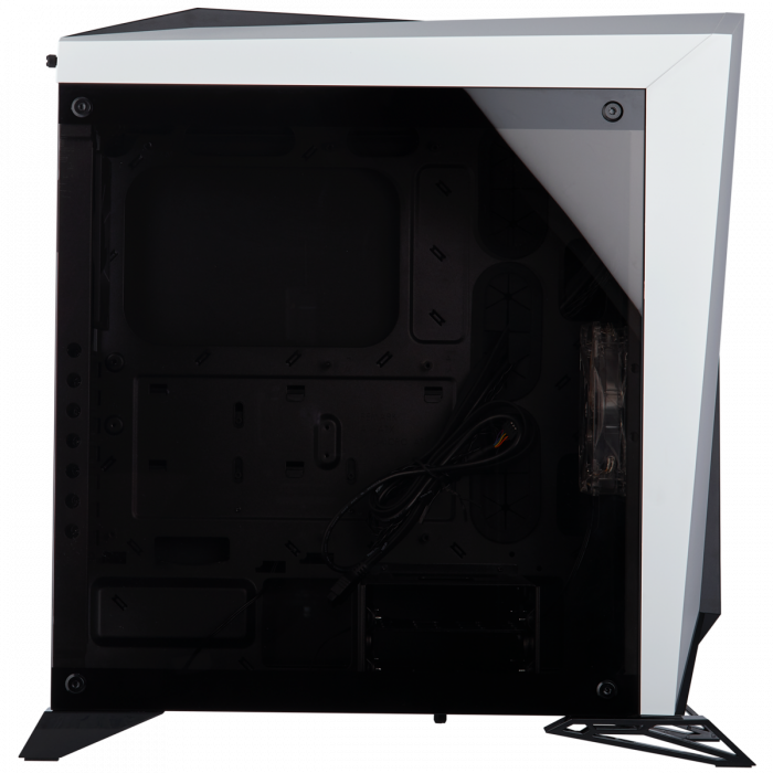 Carcasa Carbide Series OMEGA Tempered Glass - Alb/Negru [8]