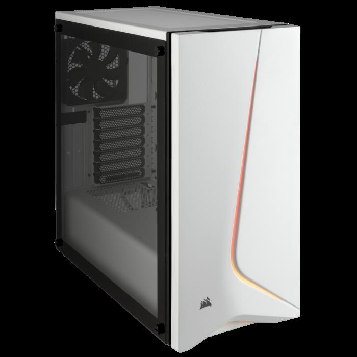 Carcasa Carbide SPEC-06 RGB Tempered Glass Alba [1]