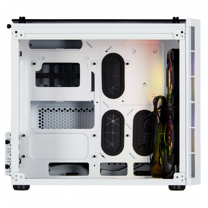 Carcasa Crystal Series 280X RGB Tempered Glass Micro ATX  — Alb 2
