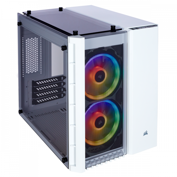 Carcasa Crystal Series 280X RGB Tempered Glass Micro ATX  — Alb 0