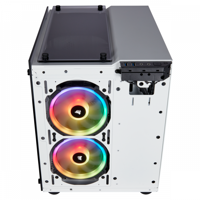 Carcasa Crystal Series 280X RGB Tempered Glass Micro ATX  — Alb 12