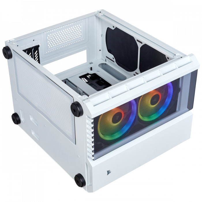 Carcasa Crystal Series 280X RGB Tempered Glass Micro ATX  — Alb 11