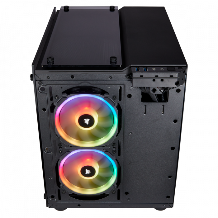 Carcasa Crystal Series 280X RGB Tempered Glass Micro ATX  — Negru 12