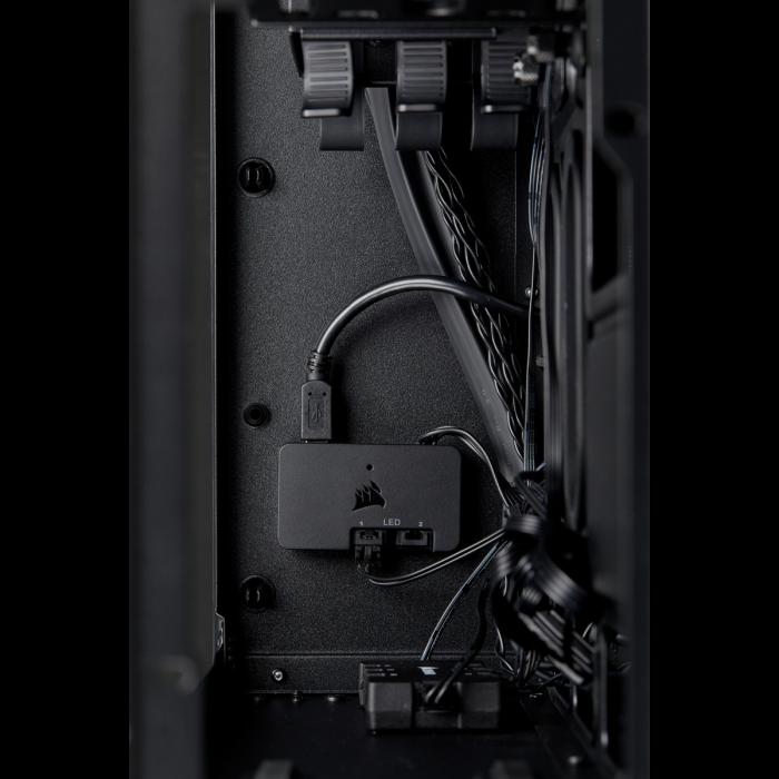 Carcasa Crystal Series 280X RGB Tempered Glass Micro ATX  — Negru [7]