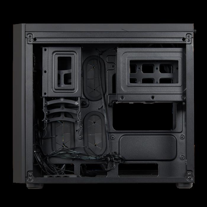 Carcasa Crystal Series 280X RGB Tempered Glass Micro ATX  — Negru [3]