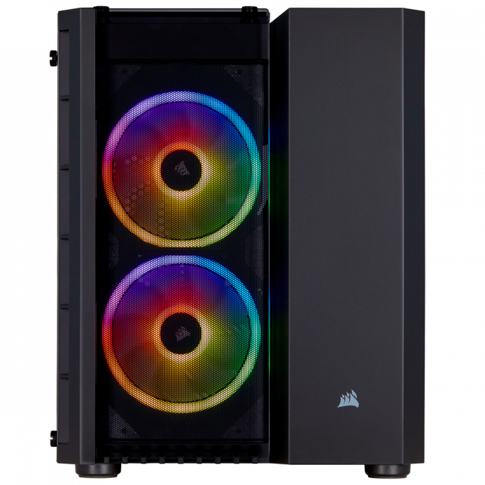 Carcasa Crystal Series 280X RGB Tempered Glass Micro ATX  — Negru [1]