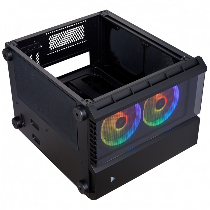 Carcasa Crystal Series 280X RGB Tempered Glass Micro ATX  — Negru [11]