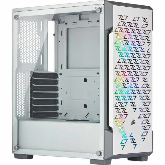 Carcasa iCUE 220T RGB Airflow Tempered Glass Mid-Tower Smart  — Alb [1]