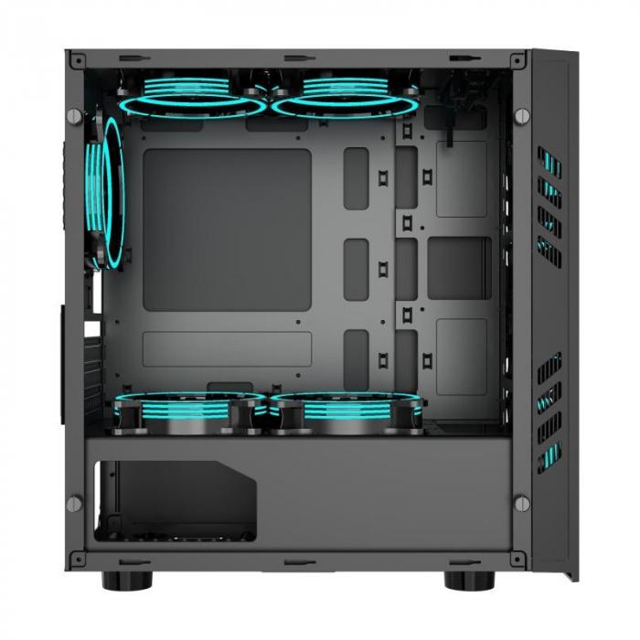 Sistem Gaming Green, Intel Core i5-10400F 2.9GHz, 8GB DDR4, SSD 240GB SATA III, RX 560 4GB, iluminare RGB [4]