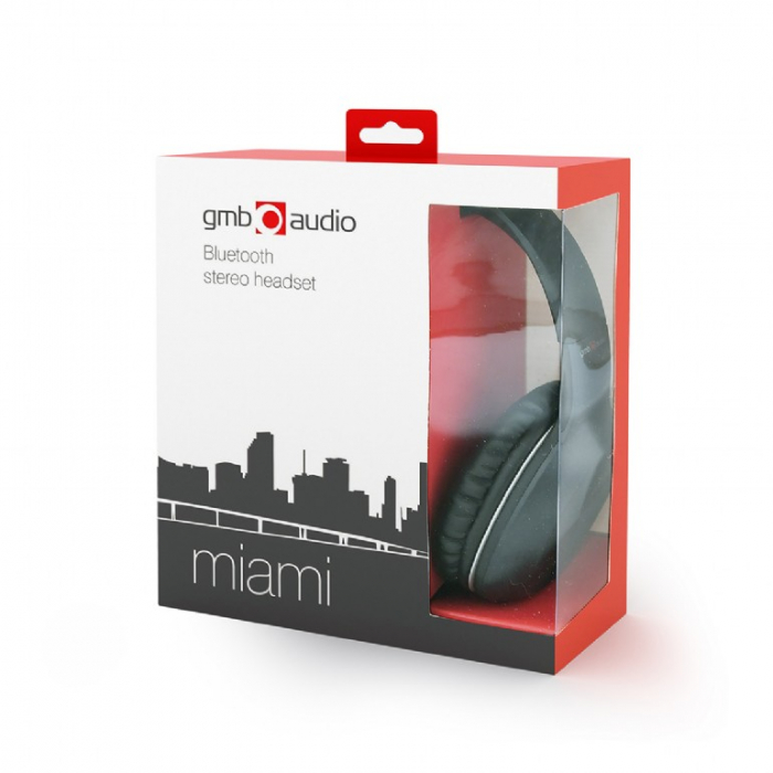 Casti Bluetooth Gembird Miami BHP-MIA Negre [3]
