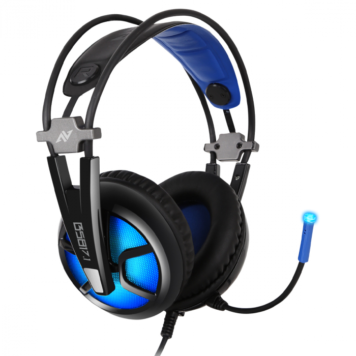 Casti gaming ABKONCORE B581 VIRTUAL 7.1, microfon, USB, negru [1]