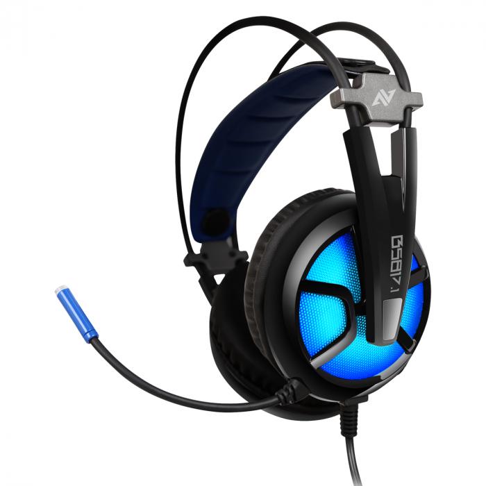 Casti gaming ABKONCORE B581 VIRTUAL 7.1, microfon, USB, negru [3]