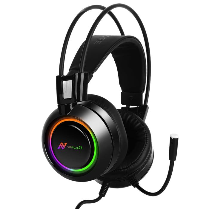 Casti gaming ABKONCORE B780 VIRTUAL 7.1, microfon, vibratii, USB, negru 3