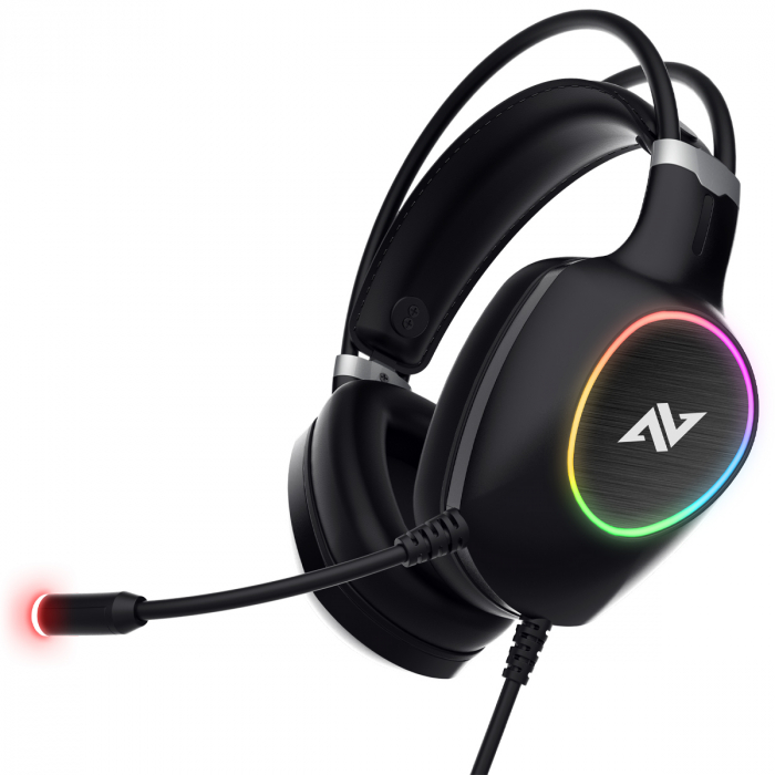 Casti gaming ABKONCORE CH55 VIRTUAL 7.1, microfon, vibratii, USB, negru [0]
