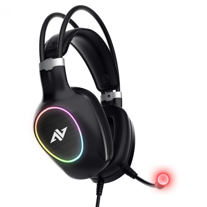 Casti gaming ABKONCORE CH55 VIRTUAL 7.1, microfon, vibratii, USB, negru [3]