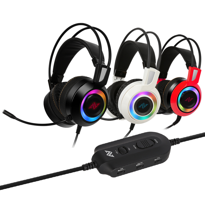 Casti gaming ABKONCORE CH60 Real 7.1, microfon, vibratii, USB, negru [1]
