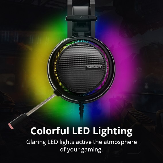 Casti Gaming Stereo Tronsmart Glary, LED, USB [3]