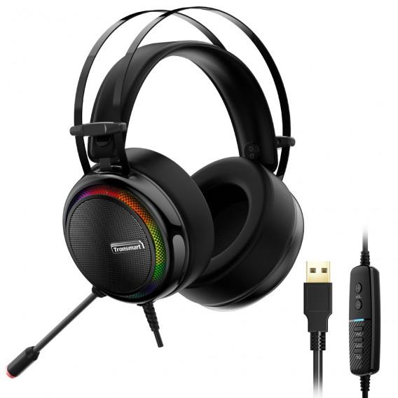 Casti Gaming Stereo Tronsmart Glary, LED, USB [0]