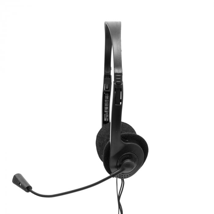 Casti Spacer Over-Head SPK-223 Black pentru Office/Call Center [1]