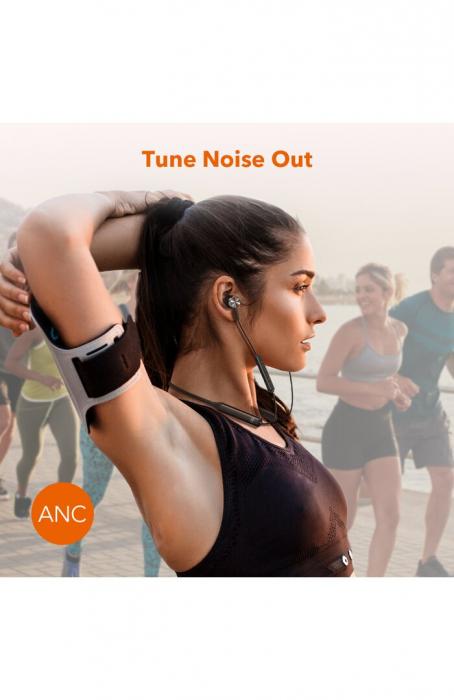 Casti Wireless Bluetooth Neckband TaoTronics TT-BH42, Active Noise Cancelling, Magnetice, Microfon, IPX5, Negru 3