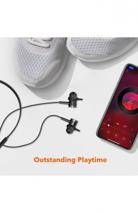 Casti Wireless Bluetooth Neckband TaoTronics TT-BH42, Active Noise Cancelling, Magnetice, Microfon, IPX5, Negru 7